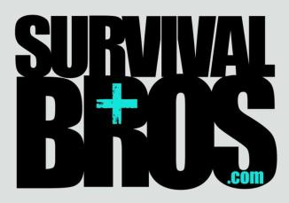 survival bros logo cool grey