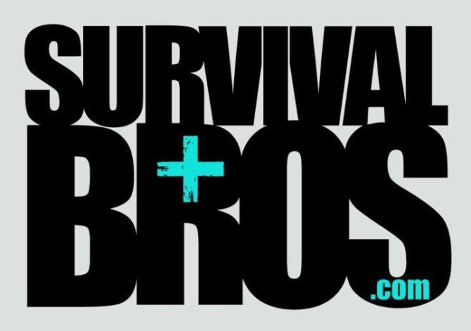 survival bros logo cool grey