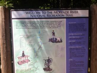 mckenzie river trail sign