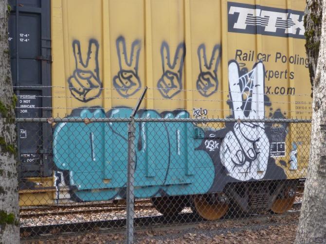 graffiti train car